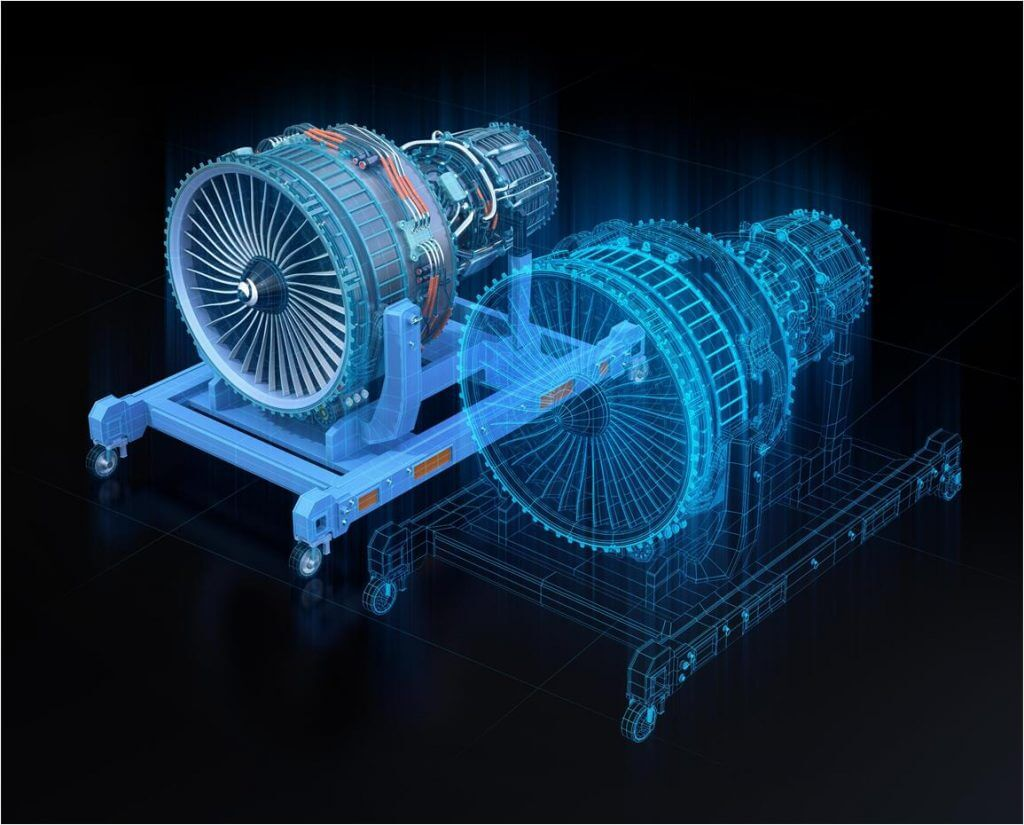 Optical fiber in engine maintenance